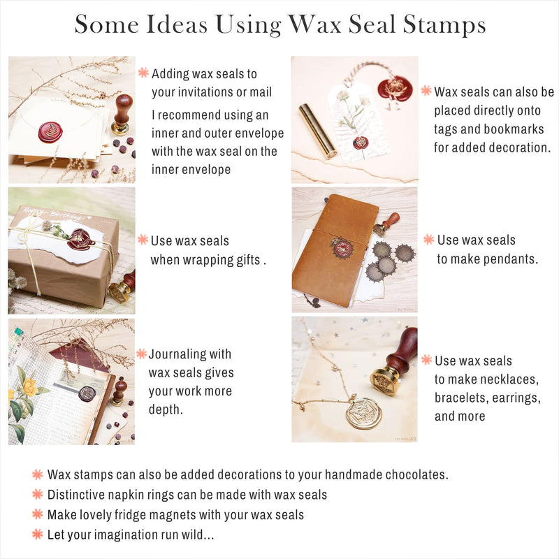 Baby Shower original wax seal stamp / 4 different patterns