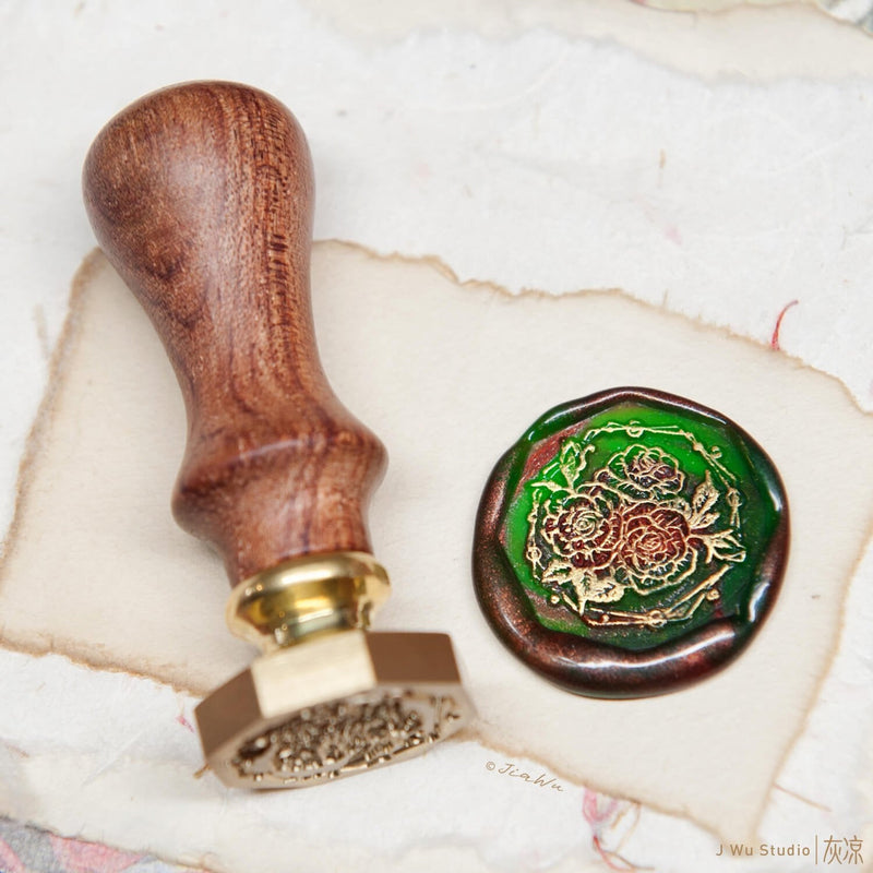 Rose original vintage wax seal stamp