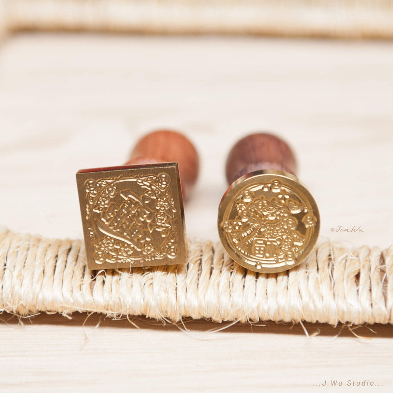 Chinese Lucky & Fortune Wax Seal Stamps