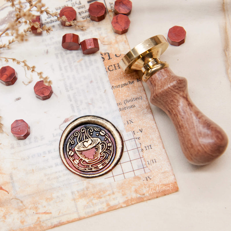 Cappuccino/ coffee /original vintage wax seal stamp
