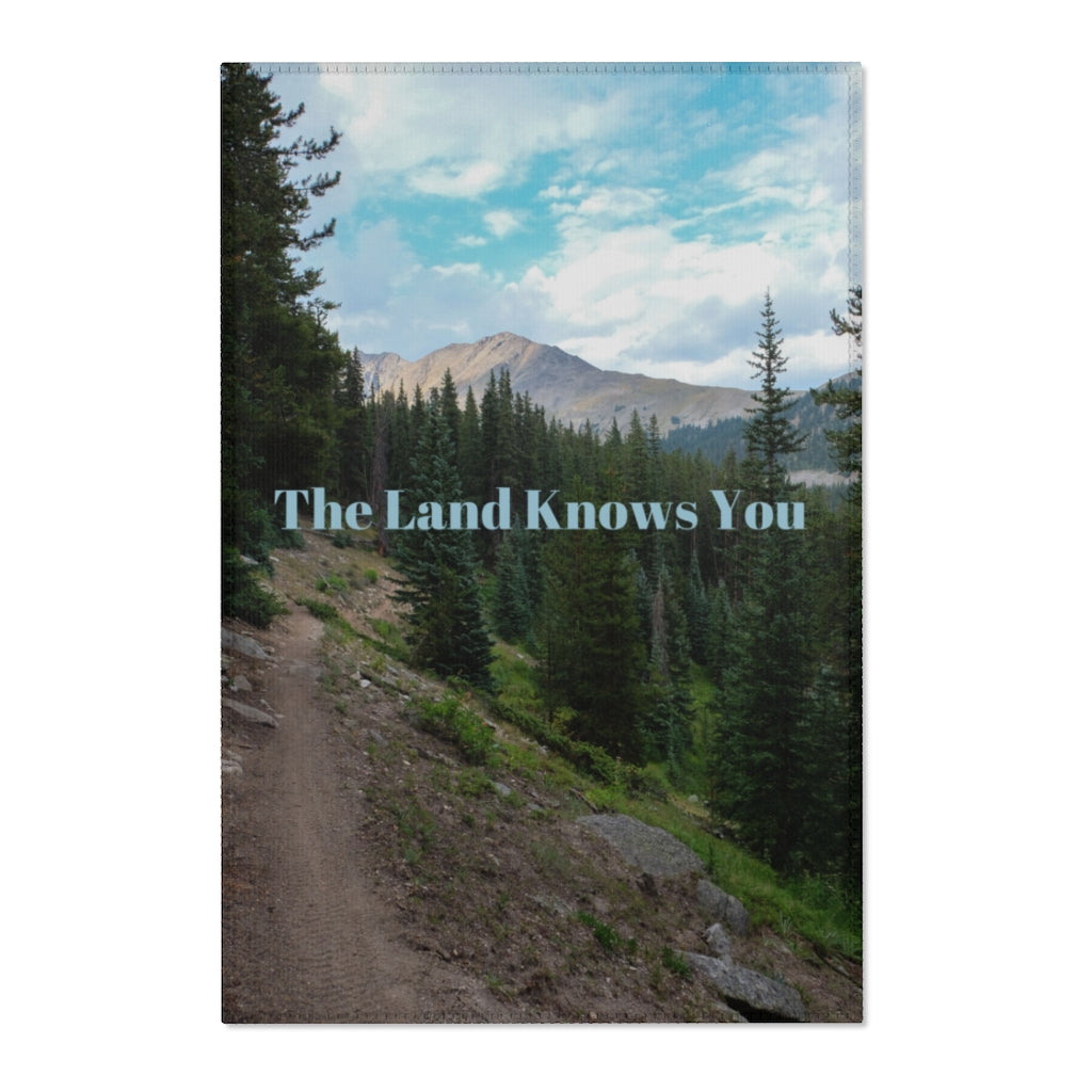 The Land Knows You sit mat or Area Rug