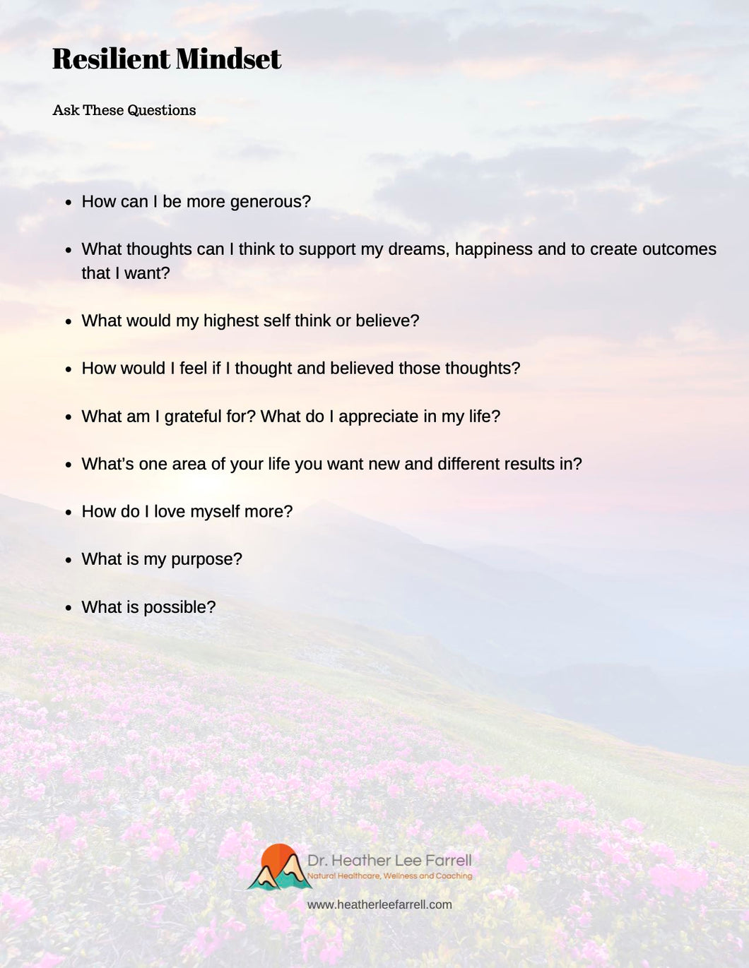Resilient Mindset:  Ask These Questions
