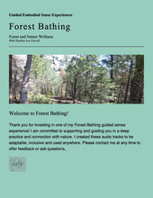 Load image into Gallery viewer, Senses Experienced:  Guided Forest Bathing