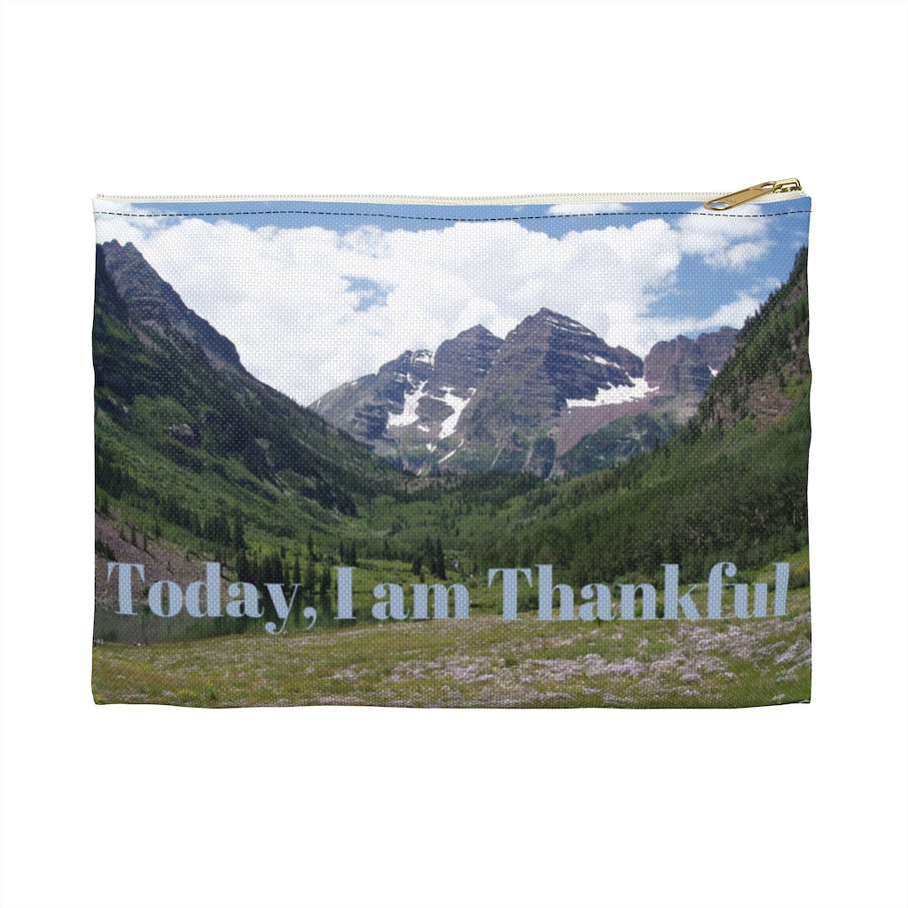 Today, I am Thankful Pouch or Travel Bag