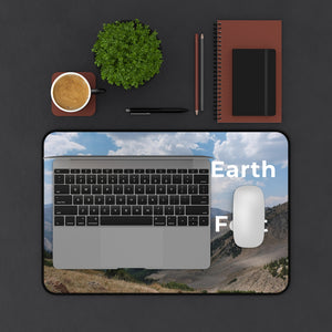 I Thank the Earth for Holding my Feet Laptop or Desk Mat