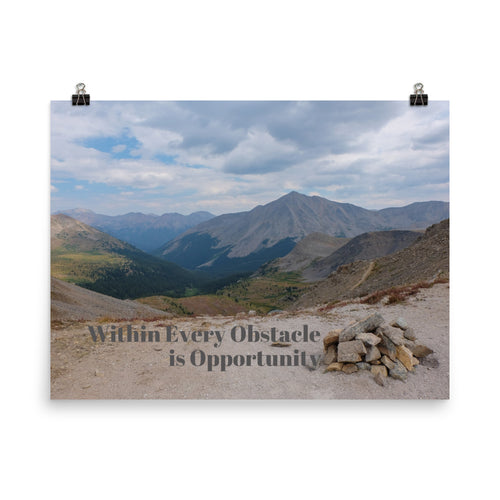 Obstacles and Opportunity Quote Art Photo Print