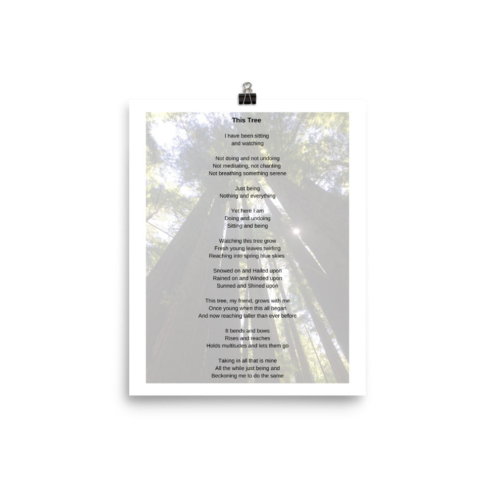 This Tree Poem Art Print