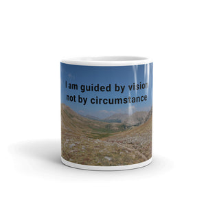 I am guided by vision not by circumstance Art Print Mug
