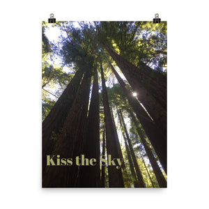 Kiss the Sky Quote Art Photo Print