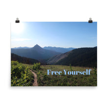 Load image into Gallery viewer, Free Yourself Quote Art Photo Print