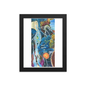 Freedom in Falling Framed print