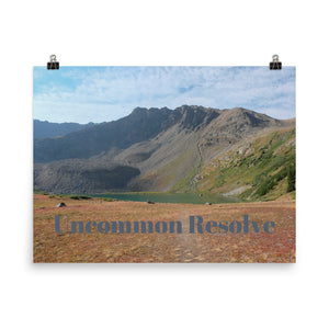 Uncommon Resolve Quote Art Photo Print