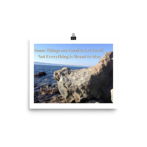 Not Everything is Meant to Stay Quote Art Photo Print