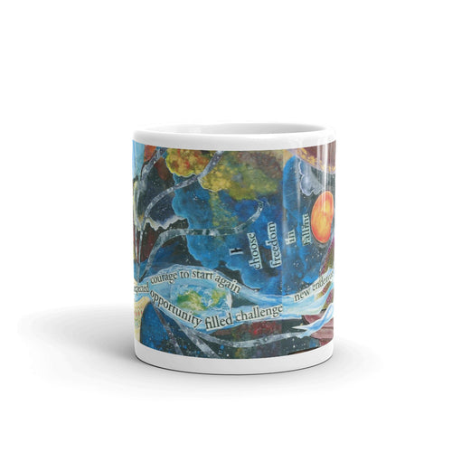 Freedom in Falling Art Mug