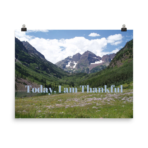 Today, I am Thankful Quote Art Photo Print