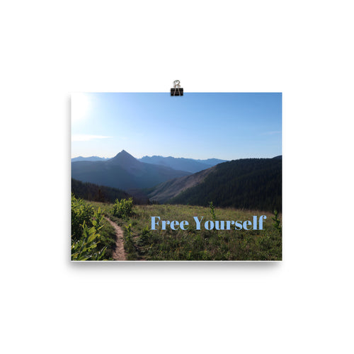 Free Yourself Quote Art Photo Print
