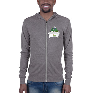 Forest Bathing Unisex zip hoodie