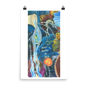 Freedom in Falling Art Print Poster