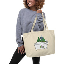 Load image into Gallery viewer, Forest Bathing Large organic tote bag