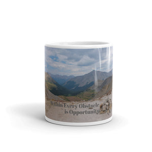 Obstacles and Opportunity Art Mug