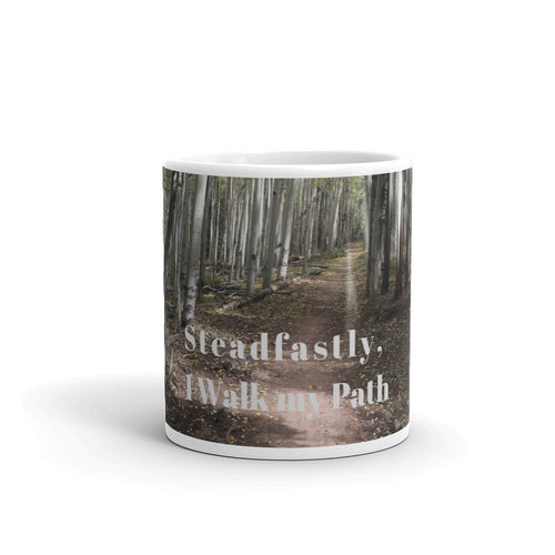 I Walk my Path Art Mug