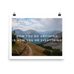 How You Do Anything Quote Photo Art Print