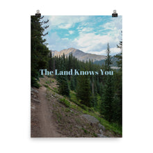 Load image into Gallery viewer, The Land Knows You Quote Art Photo Print