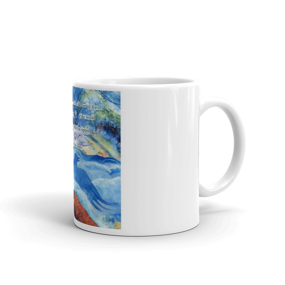 Who can read the leaves? Art Mug