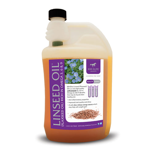 Linseed (FLAXSEED) Oil 1L - KM Elite