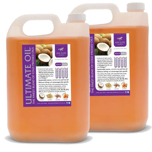 Equine Ultimate Oil 10lt for Horses Twin Bottle Pack (2 x 5L) - KM Elite