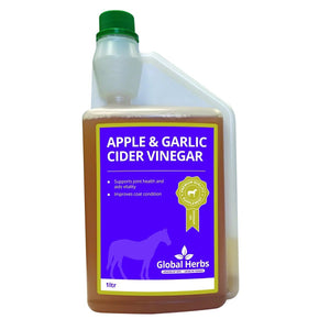 Apple & Garlic Cider Vinegar 1L - Global Herbs