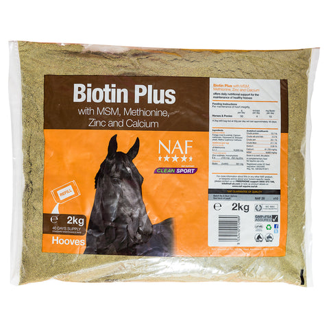 Biotin Plus 2kg Refill  - NAF | Equine Supplements | Supplements for Horses