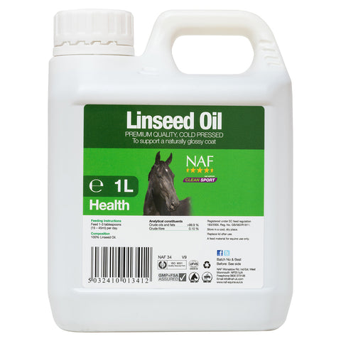 Image of Linseed Oil 1L  - NAF | Equine Supplements | Supplements for Horses