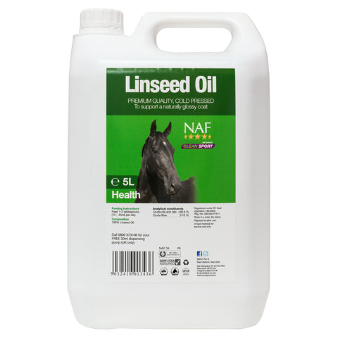 Image of Linseed Oil 5L  - NAF | Equine Supplements | Supplements for Horses