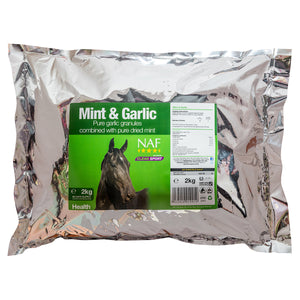 Mint & Garlic 2kg  - NAF | Equine Supplements | Supplements for Horses