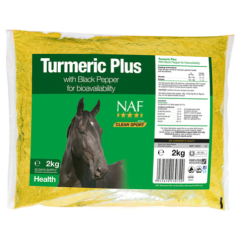 Turmeric Plus 2kg  - NAF | Equine Supplements | Supplements for Horses