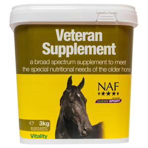 Veteran Supplement 3kg  - NAF | Equine Supplements | Supplements for Horses