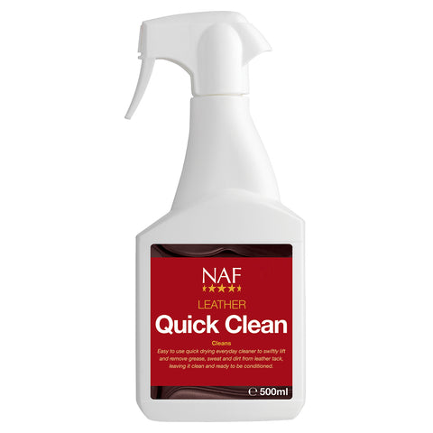 leather quick clean spray 500ml  - NAF | Equine Supplements | Supplements for Horses