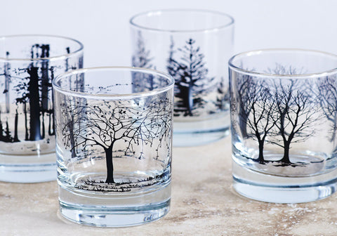 Tree Glasses - Snowden Flood Oxo Studio Shop - Number 4 of our 5 top wedding gifts ideas.  www.snowdenflood.com