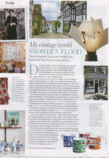 Snowden Flood My Vintage World in Period Living Magazine July 2016 www.snowdenflood.com