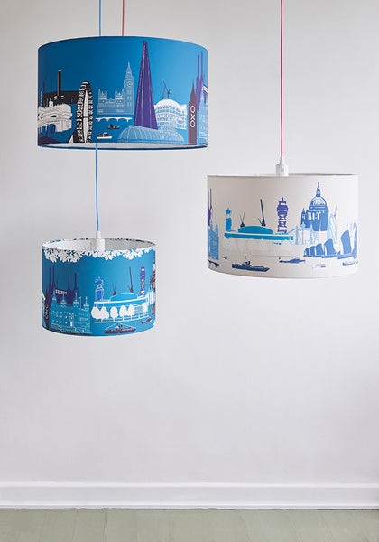 Beige/White London Landmarks Lampshade - Snowden Flood Shop - www.snowdenflood.com