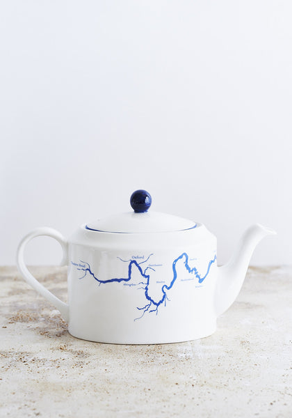River Thames Teapot in Blue
