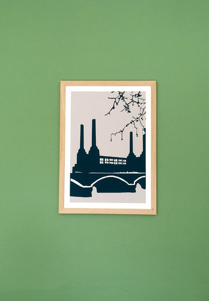 Snowden Flood Battersea Power Station Art Print