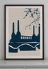 Snowden Flood Battersea Power Station A1 Art Print