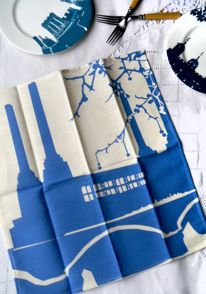 Battersea Power Station - blue & white Napkin