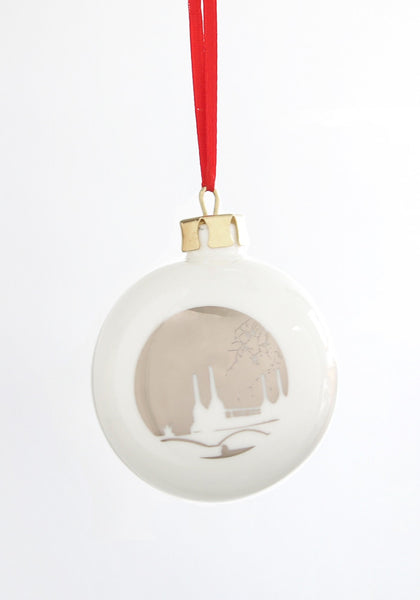 London Landmark Bauble - Battersea Power Station - Snowden Flood
