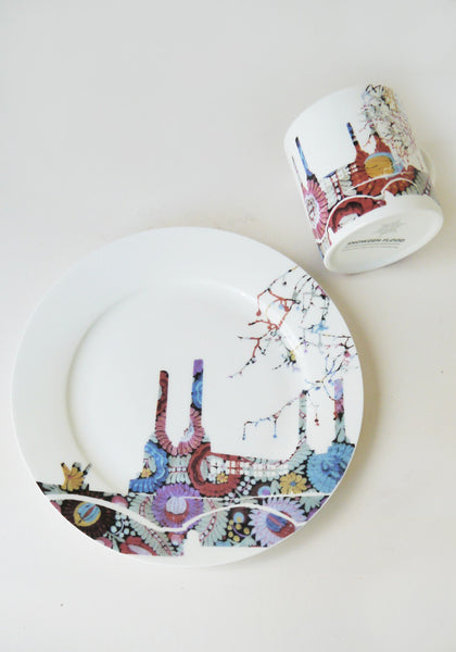 Battersea Embroidery Mug & Plate Set