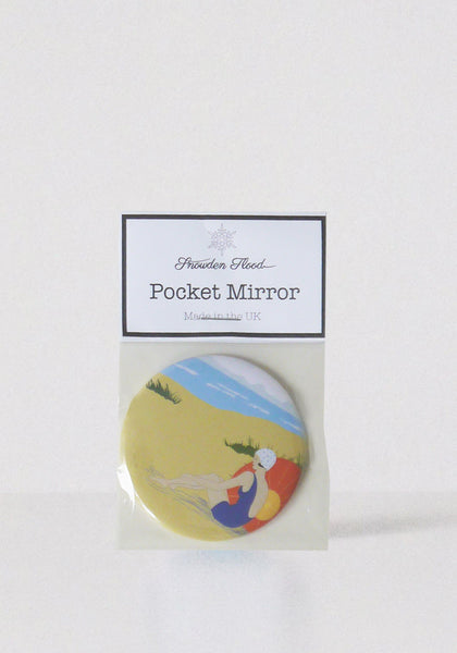 Beach Lady pocket mirror www.snowdenflood.com