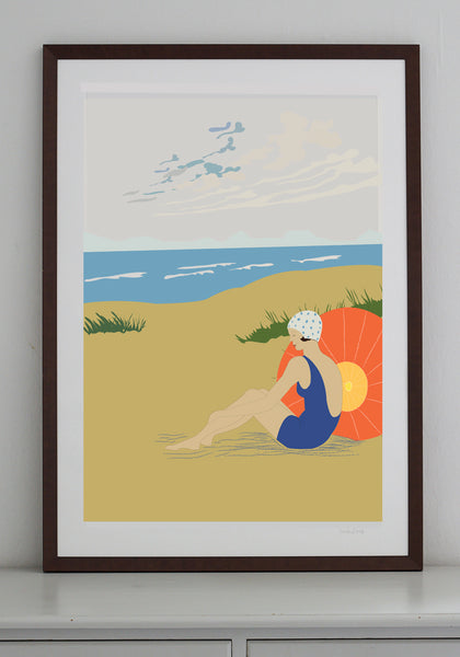 Beach Lady Print (various sizes)