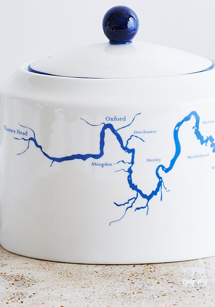 DETAIL Thames teapot in blue - Snowden Flood